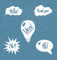 set of speech bubbles with phrases vector image