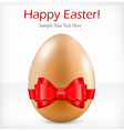 happy easter red ribbon vector image