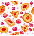 background seamless with fruit biscuits with vector image vector image