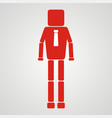 Leadership concept businessman with square head vector image
