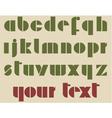 Retro alphabet vector image vector image