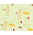 Italy travel seamless pattern with national vector image vector image
