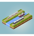 High-speed train vector image