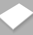 Blank White Paper Mockup vector image