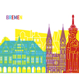 Bremen skyline pop vector image