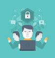 Secure Internet Communication vector image
