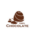 chocolate candy sweet cocoa dessert food icon vector image