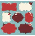 Christmas vintage labels vector image