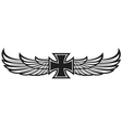 cross and wings vector image