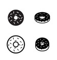 donut icons in silhouette style vector image
