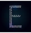 Gems E letter Shiny diamond font vector image