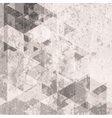 Grunge retro tech background Triangles pattern vector image