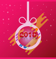happy new year 2018 ball design vector image
