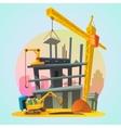 House construction cartoon vector image