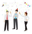 Office party flat style vector image