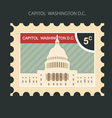 Postage stamp with Capitol building in Washington vector image