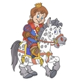 Prince on the horse vector image