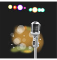 retro microphone abstract spotlight vector image