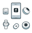 Wearable FItness Devices vector image