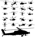 helicopter silhouettes vector image