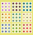 collection of stylish icons in colorful vector image