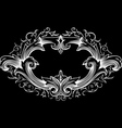 One Color Ornate Frame vector image vector image