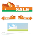 banner real estate vector image vector image