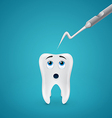 Tooth afraid dental probe vector image