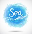 Grunge background with bright blue splash Sea vector image