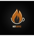 coffee cup hot fire concept background vector image