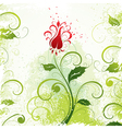 illustrated floral design vector image vector image