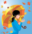girl autumn 2 380 vector image