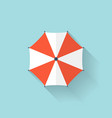 Beach umbrella web flat icon vector image