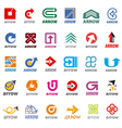 biggest collection of logos arrow vector image