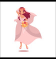 bride dancing happily isolated vector image