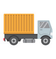 delivery truck flat icon transport and vehicle vector image
