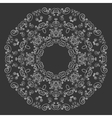 Round lacy pattern on black background vector image