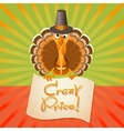 Thanksgiving Turkey Birds and text Crazy Price vector image