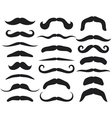 Set of mustache Vector Image