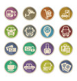 bus station icon set vector image
