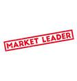 market leader rubber stamp vector image