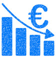 euro recession bar chart grunge icon vector image