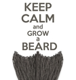 Keep Calm and grow a Beard vector image