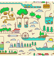 landscape seamless vector image vector image