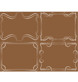 Set of framework White on brown vector image
