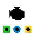 black car engine icon vector image