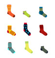 color icons set with socks vector image