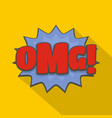 comic boom omg icon flat style vector image
