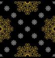 golden vintage decor seamless pattern vector image