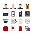 Home Security Icons vector image